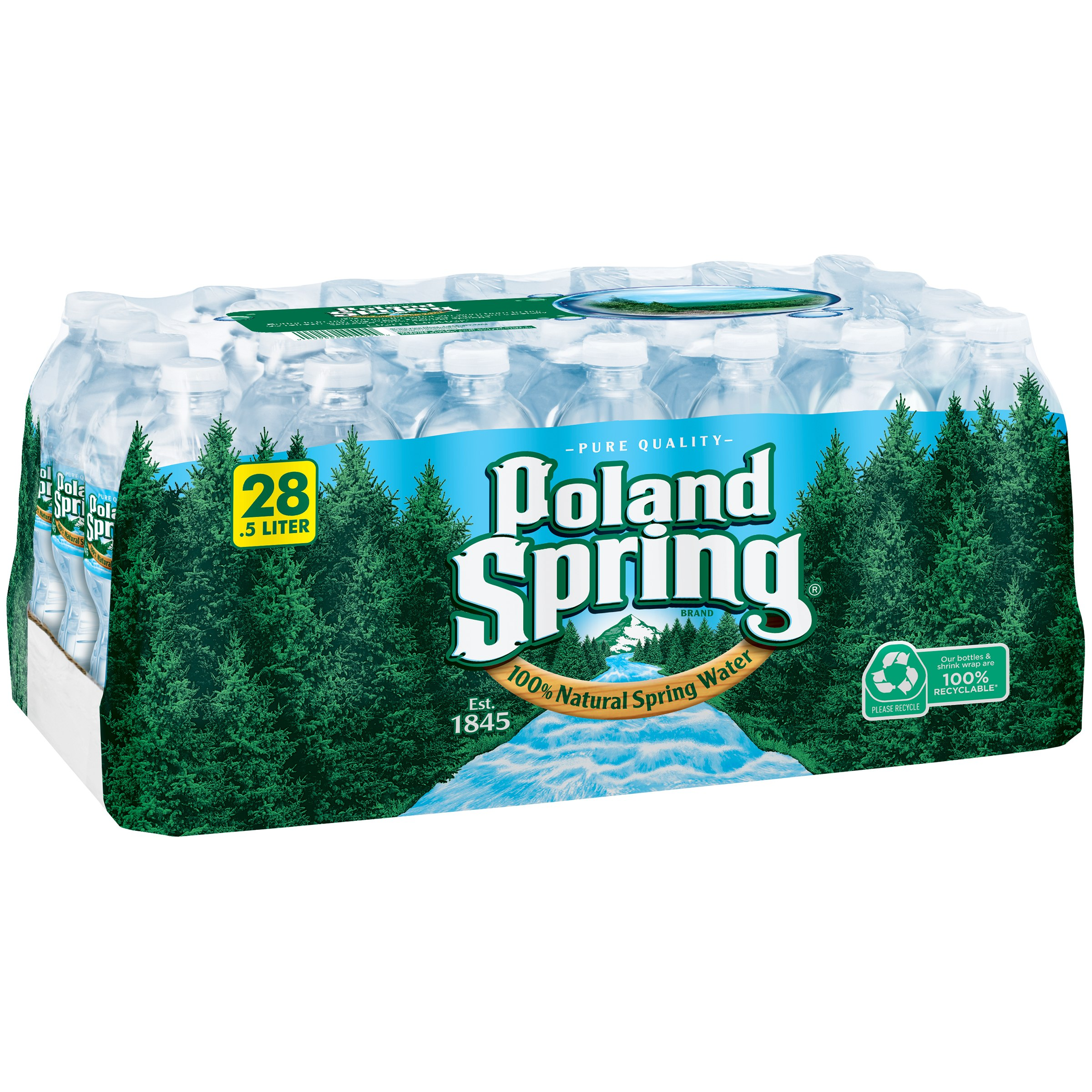 Poland Spring All Natural Spring Water, 16.9 Fl. Oz., 28 Count