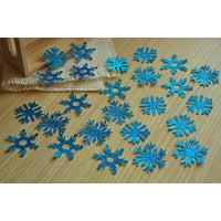 Frozen Birthday Party Decoration Confetti 25CT.  Ships in 1-3 Business Days.  Light Blue Glitter Snowflake Confetti.