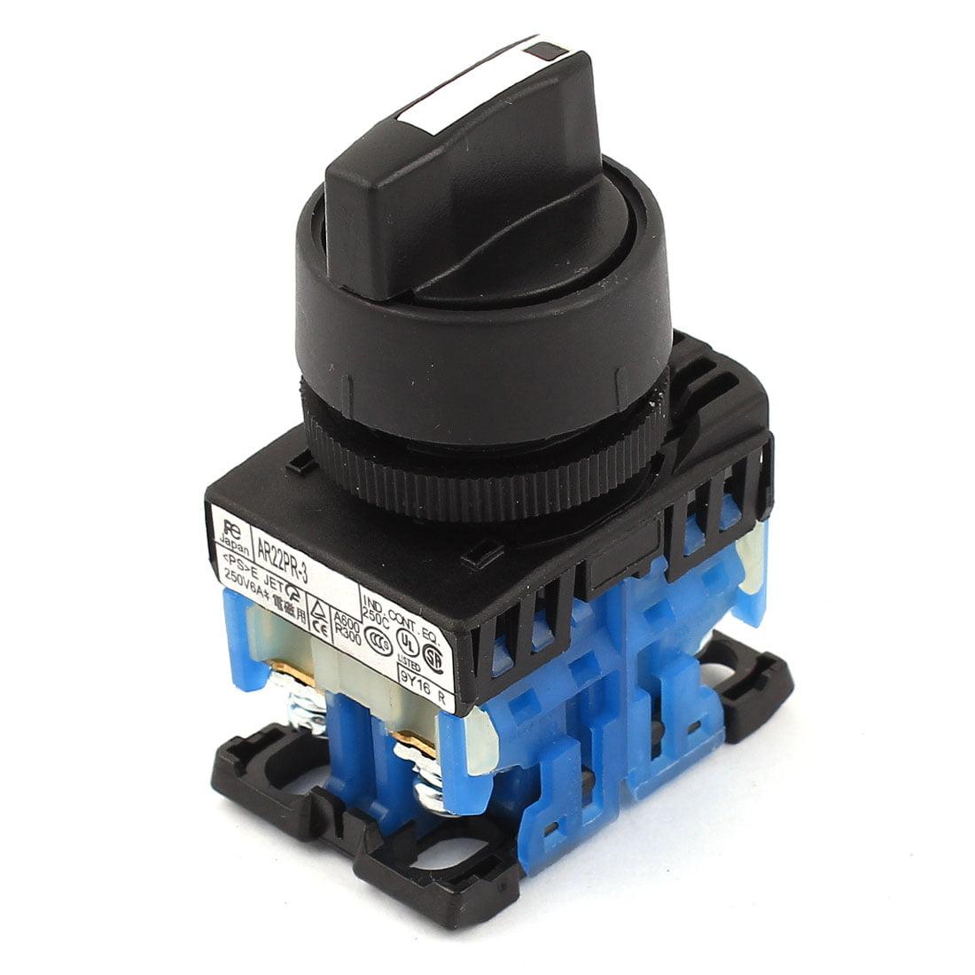 Unique Bargains AR22PR-3 30mm Dia NO+NO DPST 3 Position Rotary Selector Switch