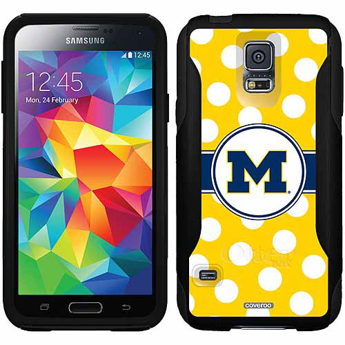 Michigan Polka Dots Design on OtterBox Commuter Series Case for Samsung Galaxy S5
