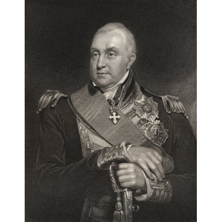 Admiral Edward Pellew 1St Viscount Exmouth 1757 To 1833 British Naval Officer And Admiral Engraved By W Holl After W Owen From The Book National Portrait Gallery Volume Iii Published C 1835 PosterPrin