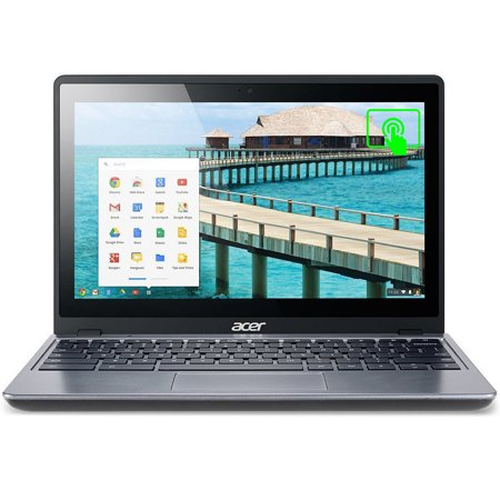 "Refurbished Acer Chromebook C720P-2625 11.6"" Touchscreen Celeron 1.4GHz 4GB RAM 16GB SSD (Scratches)"