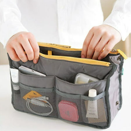 New Women Lady Travel Insert Handbag Organiser Purse Large Liner Comestic