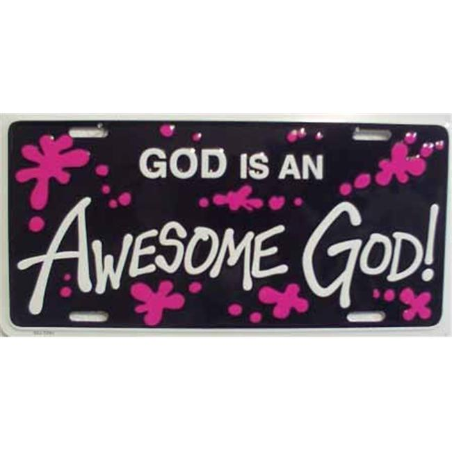 LP - 251 God is and Awesome God License Plate - 3393