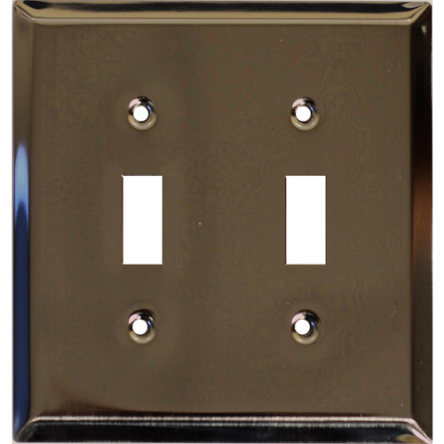 Traditional Steel Double Toggle Light Switch Cover