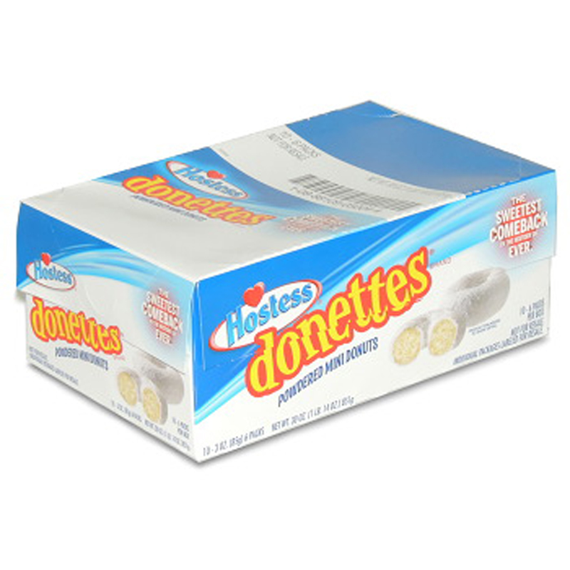 Product Of Hostess, Donettes Mini Powder Donut, Count 10 (3 oz) - Cakes & Muffins / Grab Varieties & Flavors