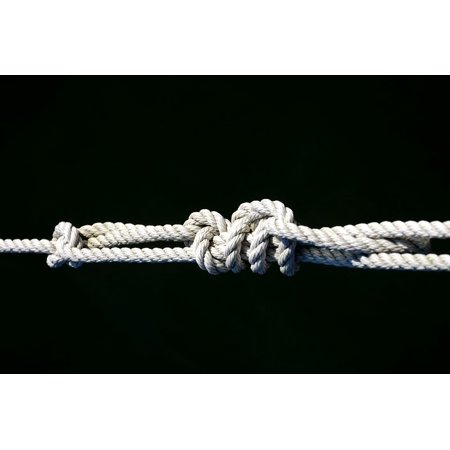 Canvas Print Dew Fixing Strand Knot Connection Rope Old Leash Stretched Canvas 10 x 14