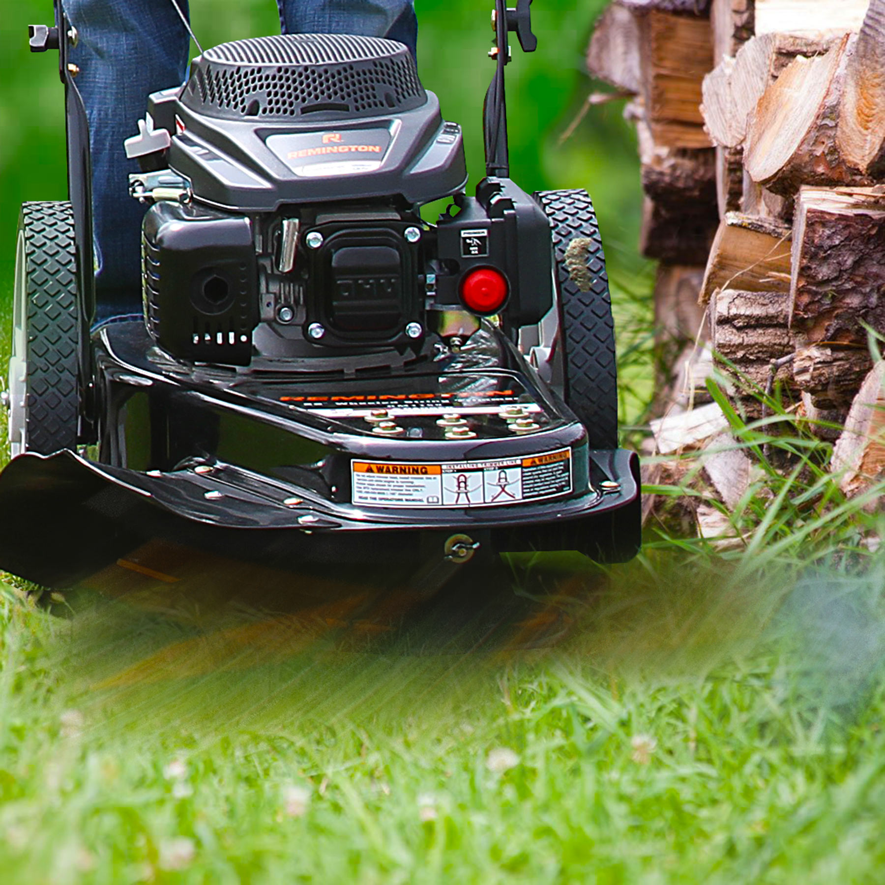 """Remington 22"""" Gas Powered Wheeled String Trimmer Lawn Mower"""