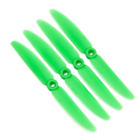 Gemfan 5x4.5 Nylon Glass Fiber Propeller (Set of 4 - Green) (Green Glass Chip)