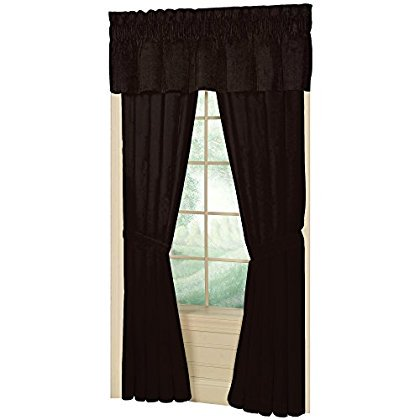 "Patch Magic Brown Chambray Window Curtain 40X80 Pl;10"" Lp"