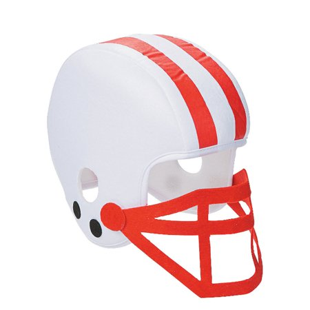 Foam Helmet (White And Red Foam Football Helmet White And Red Foam Football Helmet Team)