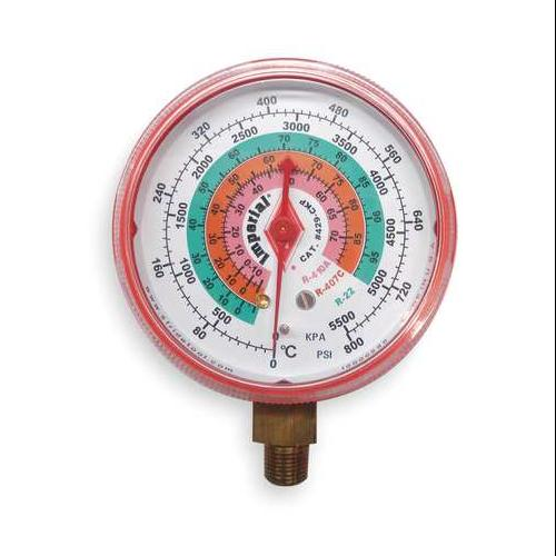IMPERIAL 423-CR Replacement Gauge,High Side,Color Red