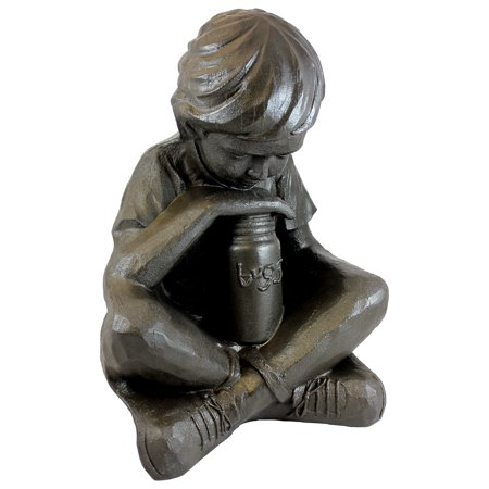 "EMSCO Nature Boy Statue – Natural Bronze Appearance – Made of Resin – Lightweight – 16"""