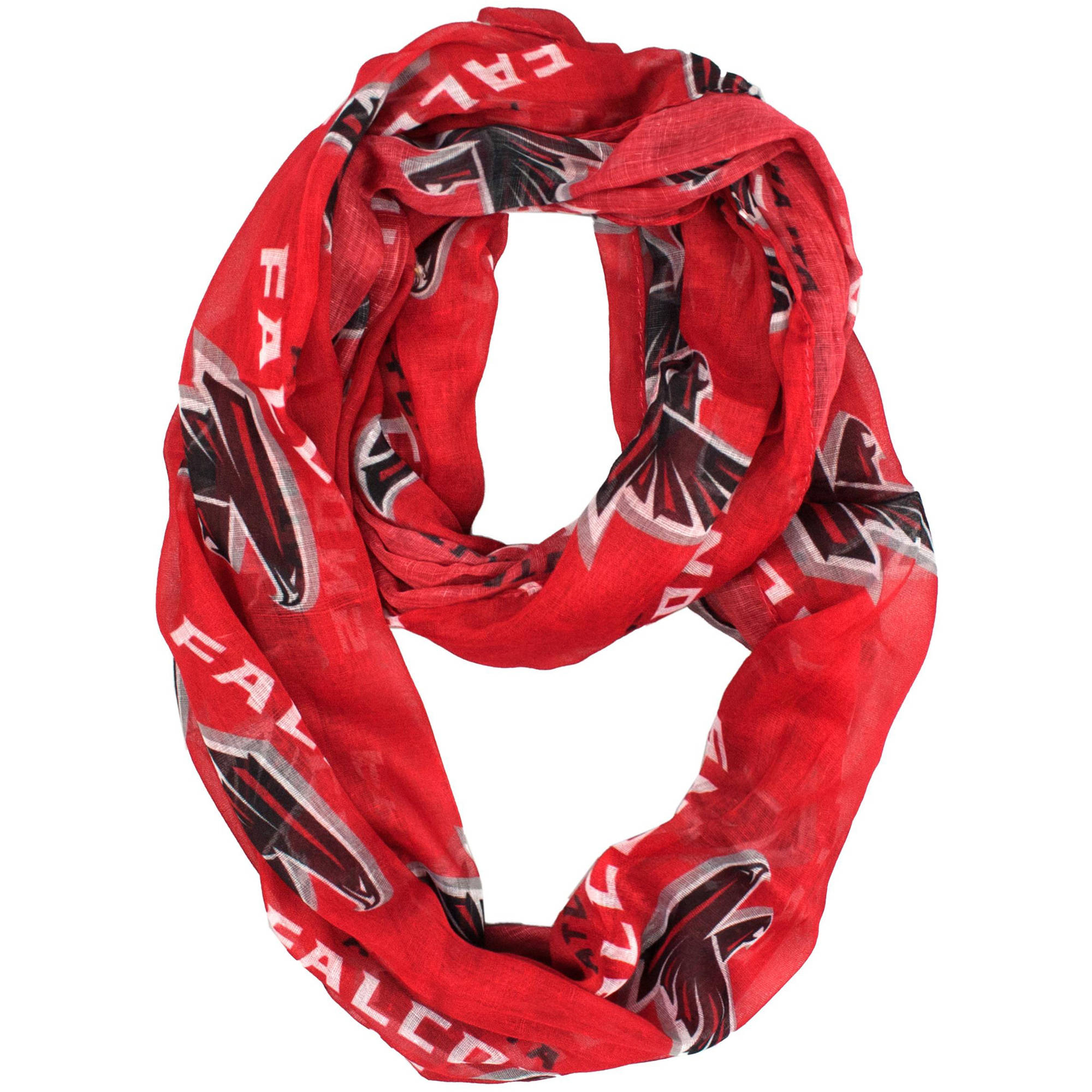 Little Earth - NFL Sheer Infinity Scarf, Atlanta Falcons