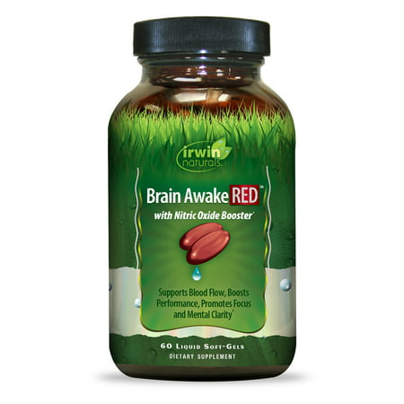 Irwin Naturals Brain Awake Red Dietary Supplement Softgels - 60ct