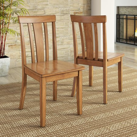 Black Wood Dining Room Chairs - Lexington Slat Back Dining Chair, Set of 2, Multiple Colors