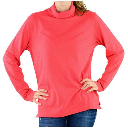 Devon & Jones Pink DP160W Women's Stretch Jersey Turtleneck - CO - Ruby DP160W - Couture Stretch Jersey
