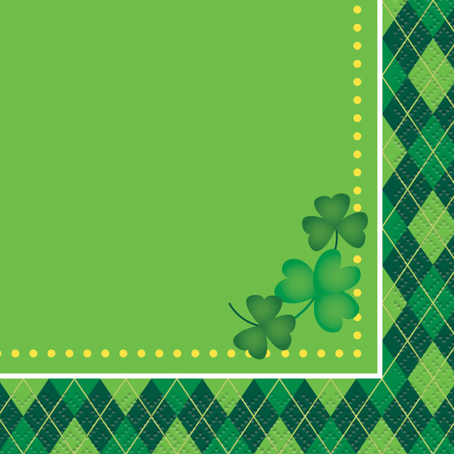 Argyle St. Patrick's Day Beverage Napkins, 16ct by Unique Industries