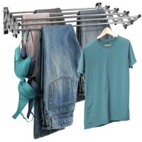 Sorbus Clothes Drying Rack, Wall Mounted Space-Saver, Great Organization for Laundry Room, Mudroom, Bedroom, Pool Area, etc