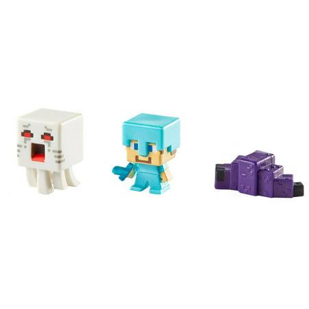 Minecraft 3-Pack Ghast, Steve and Endermite Figures