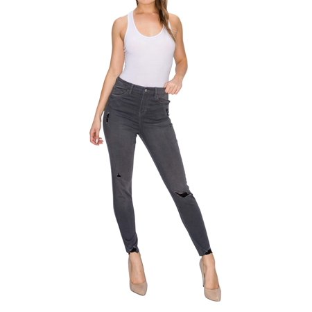 RING OF FIRE Women's Lucia High Rise Ankle Skinny Fit Jeans