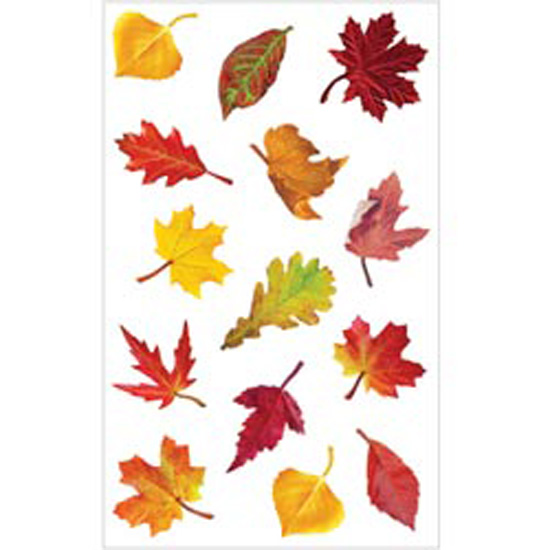 Mrs Grossmans Sticker, Falling Leaves Multi-Colored