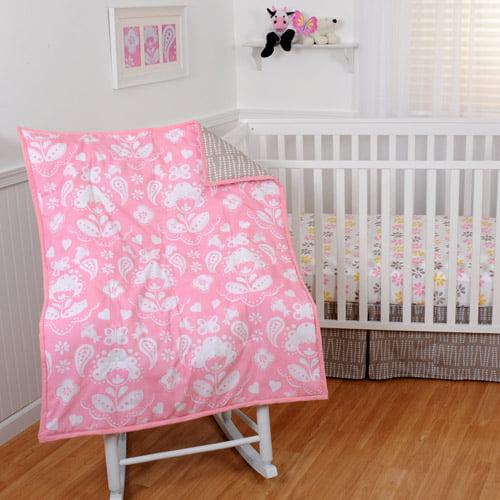 Sumersault Mackenzie 4-Piece Crib Bedding Set