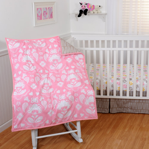 Sumersault Mackenzie 4-Piece Crib Bedding Set