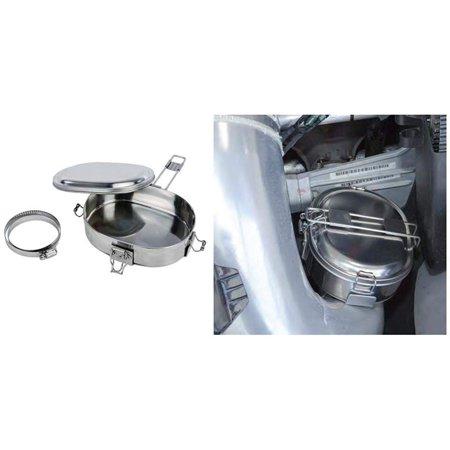 Snowmobile ATV UTV Trail Chef Food Warmer Muff Pot Exhaust Cooker Hot Pot Franklin Chef Appliances