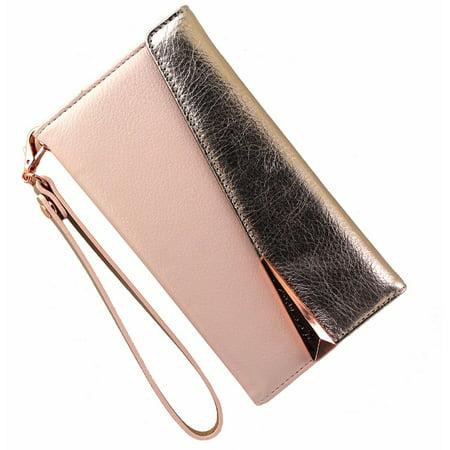 the latest a2ecb 29b9b Case-Mate Leather Folio Wristlet Case Cover iPhone 7 Plus 6s Plus - Rose  Gold (Refurbished)