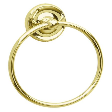 Vibrant Polished Brass Finish - Towel Ring in Polished Brass Finish