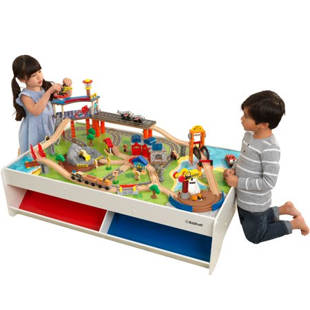 KidKraft Railway Express Train Set & Table with 79 accessories