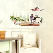XS-017 Afternoon Tea - Large Wall Decals Stickers Appliques Home Decor