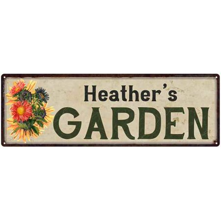 Heather's Garden Personalized Flower Chic Decor 6x18 Sign Gift 206180017056 ()