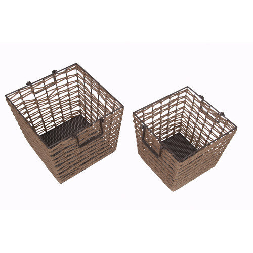 Privilege 2 Piece Square Basket Set