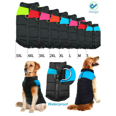 Deago Medium Dog Coat Waterproof Winter Warm Dog Clothes Cat Coat Jacket Vest (Dog Coats Uk)