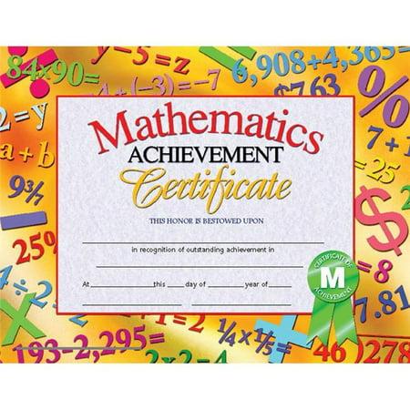 Flipside H-VA681-3 Hayes Mathematics Achievement Certificates Inkjet Laser, 8.5 x 11 in. - 30 Per Pack - Pack of 3 Hayes Inkjet Paper