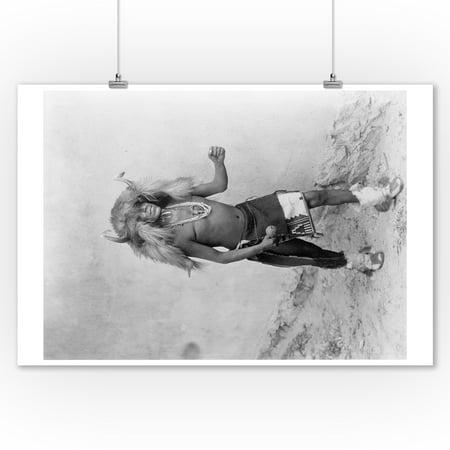 Buffalo Dancer Native American Indian Curtis Photograph (9x12 Art Print, Wall Decor Travel (Native American Indian Buffalo)