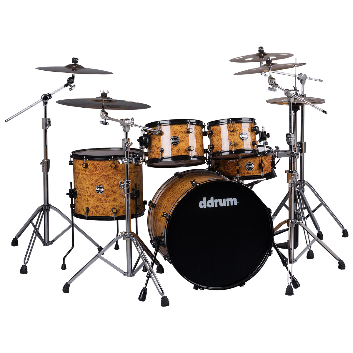ddrum Reflex Series 5-Piece Shell Pack Mappa Burl Wrap by ddrum