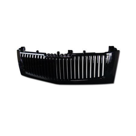 Vertical Front Grille (RL Concepts BLACK VERTICAL VIP FRONT HOOD BUMPER GRILL GRILLE GUARD ABS 2002-2006 ESCALADE )