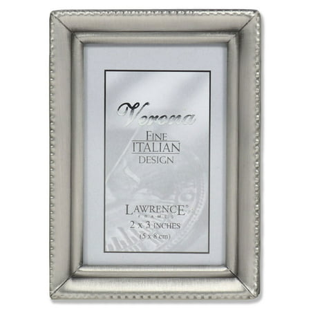 Pewter Entrance (Antique Pewter 2x3 Picture Frame - Beaded Edge Design)