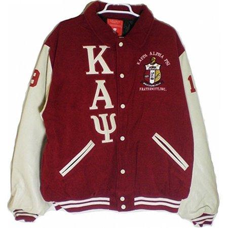 Buffalo Dallas Kappa Alpha Psi Mens Varsity Jacket [Crimson Red - XL] (Up Varsity Jacket)