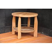 WholesaleTeak Outdoor Patio Grade-A Teak Wood Round Shower Spa Bench Stool Outdoor Patio Garden #WMAXUM8