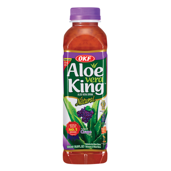 OKF Aloe Vera King Grape Pure Premium Aloe Drink 16.9 oz ...