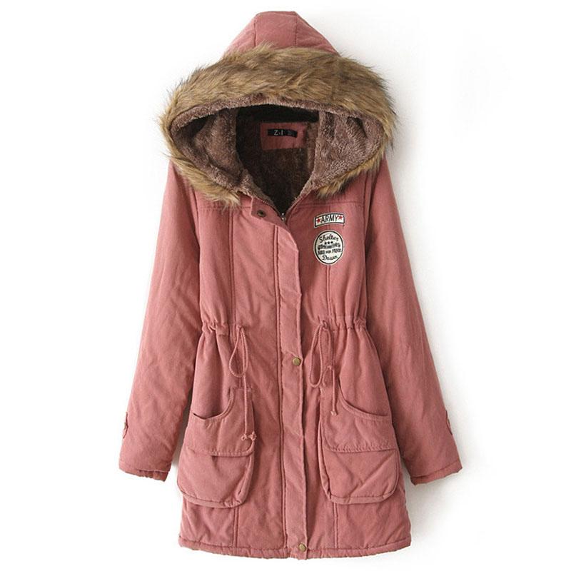 Prettyever Fashion Jacket Coat Winter Black Warm Jacket Women Autumn Outerwear Female Overcoat Dark Green S
