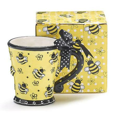 Burton & Burton Bee Days With Raised Bees Mug
