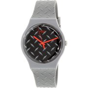 Swatch Men's Originals SUOM102 Grey Rubber Quartz Watch