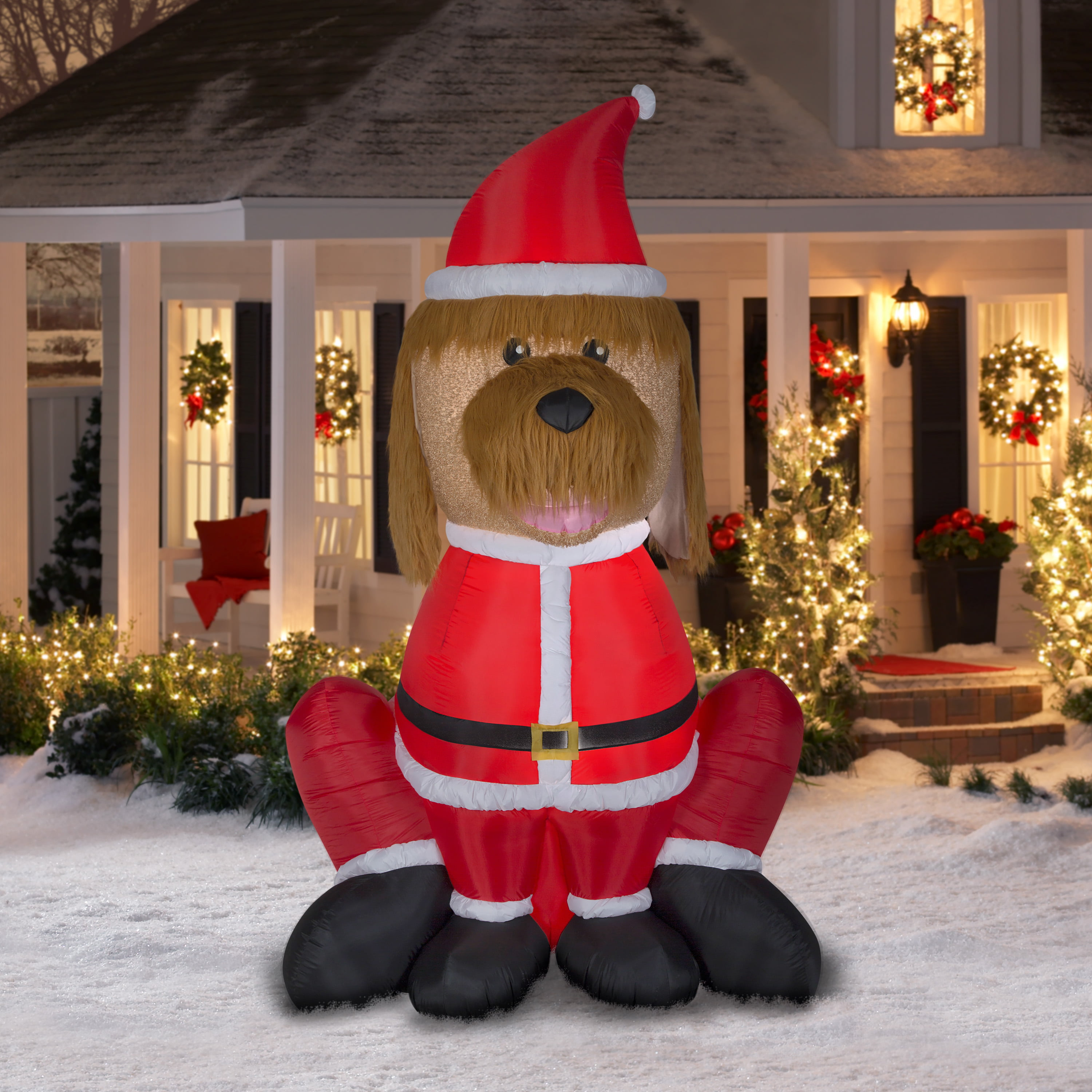 airblown inflatable mixed media golden doodle giant 9ft tall by gemmy industries walmartcom - Goldendoodle Christmas Decorations