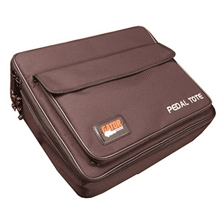 """Gator Plywood Pedal Board with Black Nylon Carry Bag and External Pocket. 18"""" x 12"""", GPT-Black"""