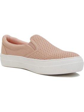 Soda Flat Women Shoes Slip On Loafers Casual Sneakers Memory Foam Insoles Hidden Platform / Flatform Round Toe CROFT-G Mauve Pink 6